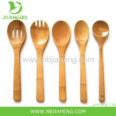 5 pcs Cooking Set Solid Wood Bamboo Spoon Fork Spatula Turner Kitchen Utensils
