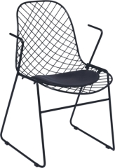 Eames Wire bertoia side Chair Chromed Steel with PVC Cushion