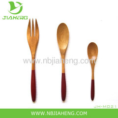Bamboo Wood Kitchen Utensil 3 Piece Set Ecofriendly US Seller Spoons Spatula
