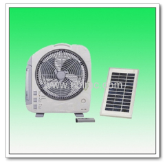 solar rechargeable fan