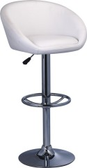 White PU Mode height adjustable Bar Chair bar stool