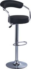 PU Chromed Metal Modern Bar Chair