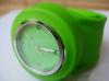 Unisex fashionable slap silicone watch