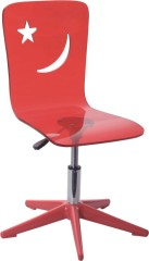 gas lift Wheeled acrylic Office Chair