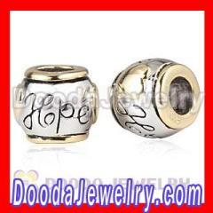 Gold Plated european Hope Charms