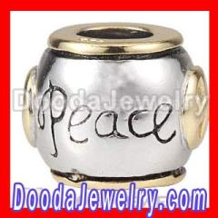 Wholesale PANDROA PEACE Charm Beads