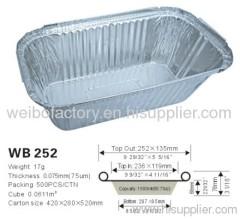 alum. foil container