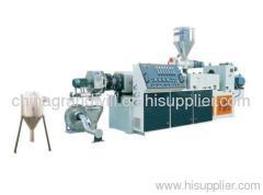 PVC conical twin screw pelletizing production line