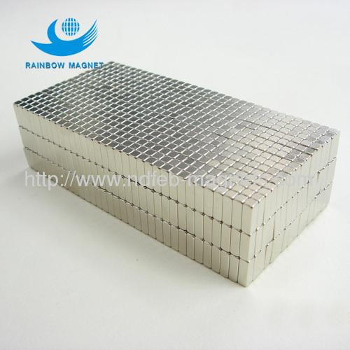 Neodymium rectangular Iron Boron magnets