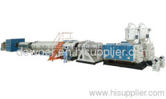 Winding HDPE pipe production line