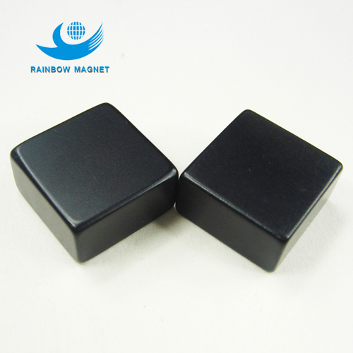 Neodymium Iron Boron square epoxy black magnet