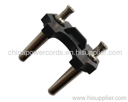 10 A cable plug insert with hollow brass pins