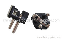 Two-pin electrical plug insert with Hollow pins