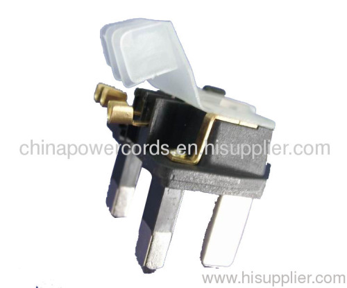 UK type cable plug connectors