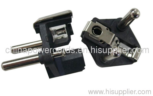Two-pin plug insert with 4.0mm pins