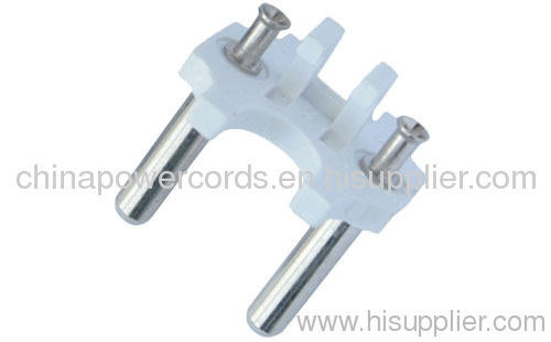 India 2 PIN power cable plug inserts