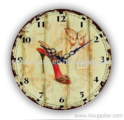 exotic designs ' clock glass