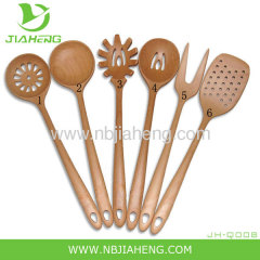 Set for kitchen cooking from a natural wooden Fork Spoon Shovel NEW