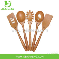 NORPRO 5 PCS Deluxe Oval Wooden Spoon Set NEW