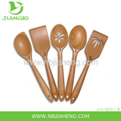 NORPRO 5 PC Deluxe Oval Wooden Spoon Set NEW