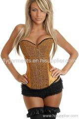 Gold Sequin Burlesque Corset