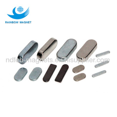 NdFeB oval zn and black epoxy coating Magnets