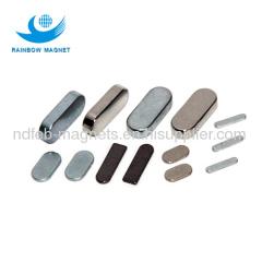 NdFeB oval zn and black epoxy coating Magnets