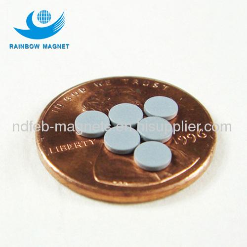 Neodymium Iron Boron disc magnet with grey expoy coating