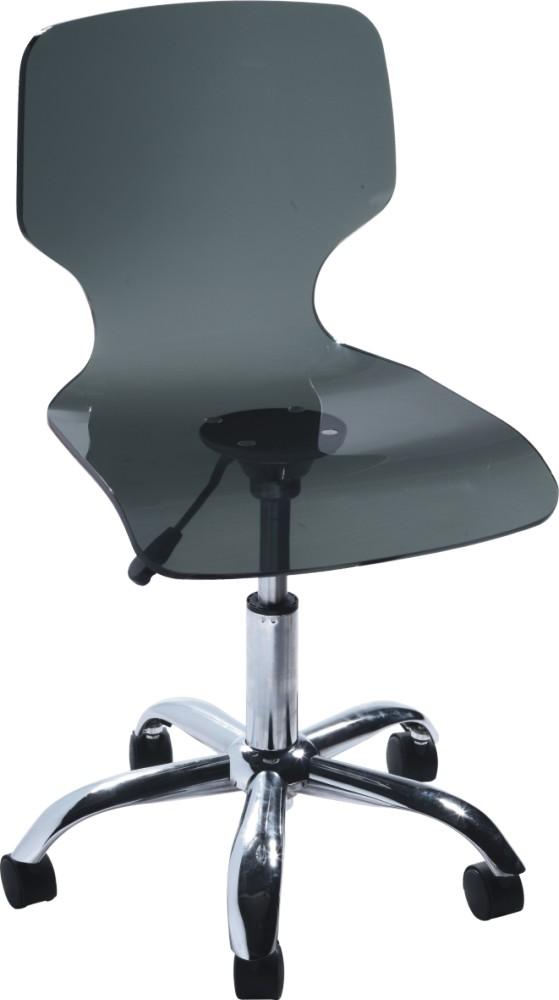 clear crystal adjustable lift office armless chair acrylic office chair