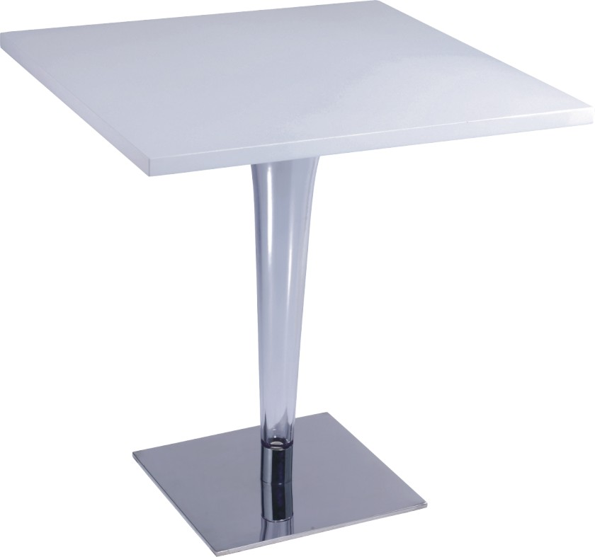 Fashion White Wood Top Square Bar Table From China