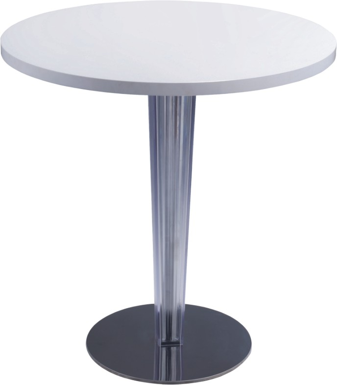 Vintage White Wood Top Round Bar Table Dining Breakfast