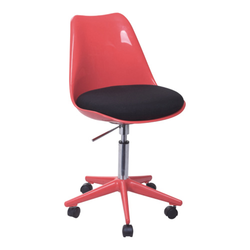Modern Red Wheeled Gas Lift Tulip Office Chair Removable