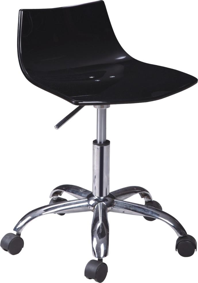 Modern Black Wheeled Gas Lift Acrylic Office Chair Bar