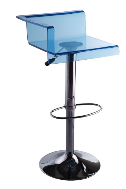 Modern Blue Plastic Arcylic Bar Chair Height Bar Stools Pub Club Restaurant Furniture