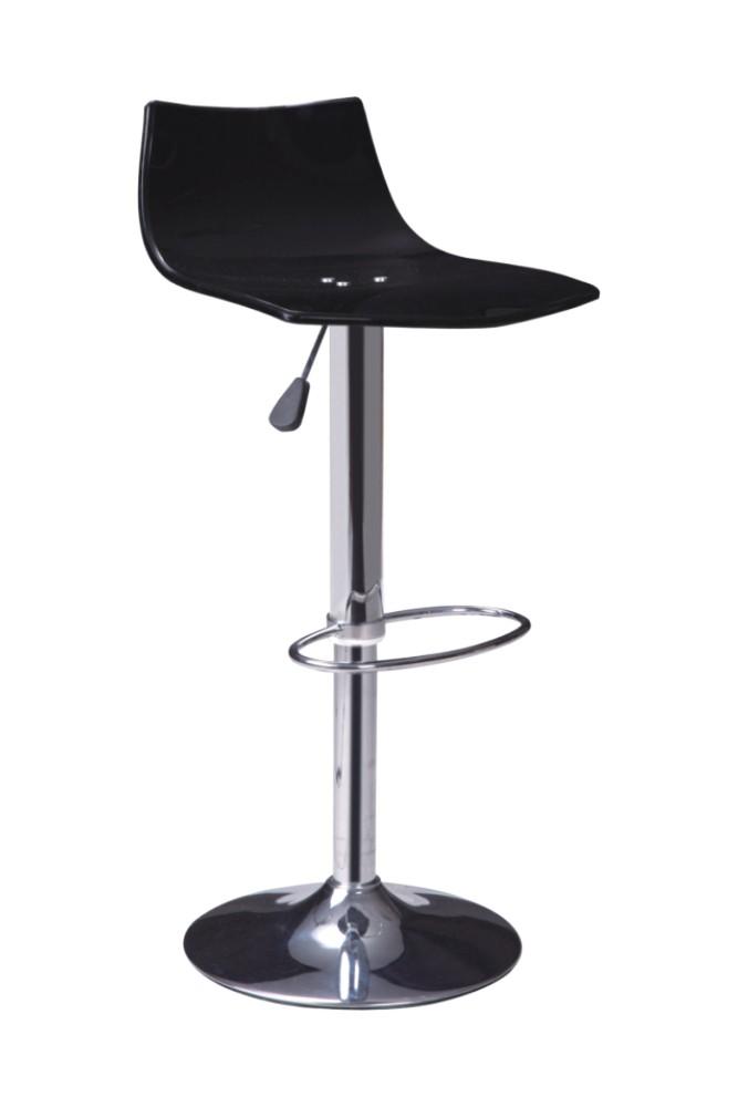 Modern Black Arcylic Bar Chair Gas Lift Footrest Barstools
