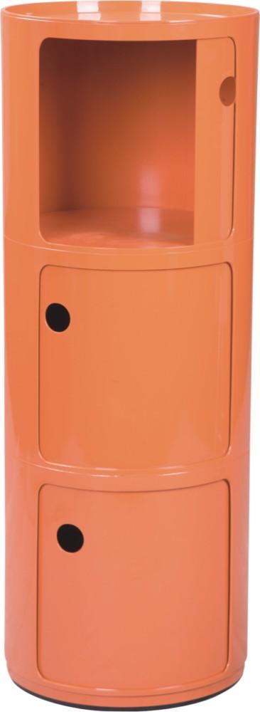 High Quality Orange Plastic Componibili Stroage Box Round