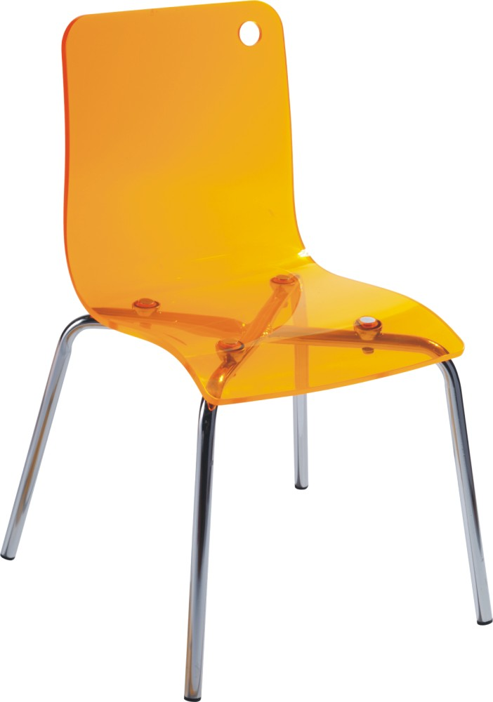 Modern Plastic Yellow Acrylic Baby Chair Ergonomic