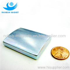 electronic industry magnet.sintered NdFeB arc magnet with Zn
