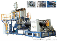 HDPE hollow wall winding pipe extrusion line