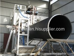 HDPE hollow wall winding pipe extrusion machine