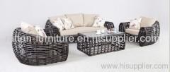 aluminum frame PE wicker patio furniture sets outdoor sofa