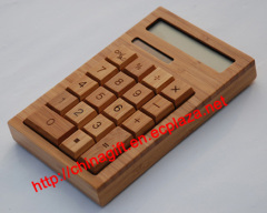 Environmentally Friendly Solar Bamboo Calculator