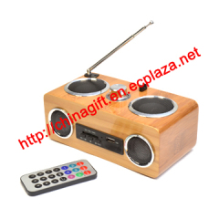 Hi-Fi Bamboo Speaker with FM