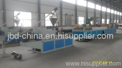wood plastic decking extrusion line