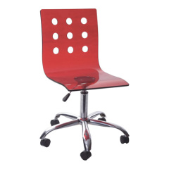 simple red gas lift office chair