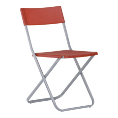 Steel Tube PP Folding armless Chair