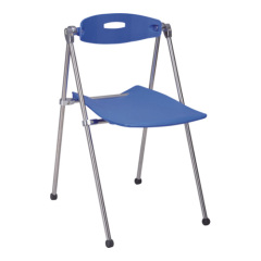 blue PP steel Folding Chair