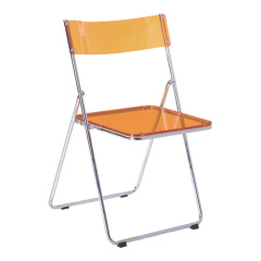 yellow crystal Metal Folding Chair with Acrylic