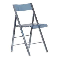 crystal Acrylic Steel Tube Folding diningChair