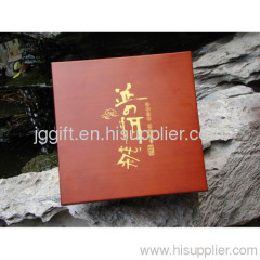 Pu'er tea packaging food container wooden box